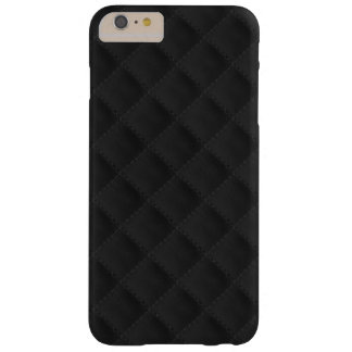 Black Quilted Leather Barely There iPhone 6 Plus Case