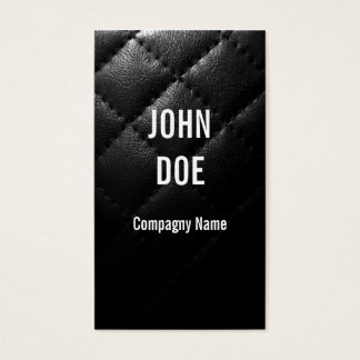 Black Quilted leather Business Card
