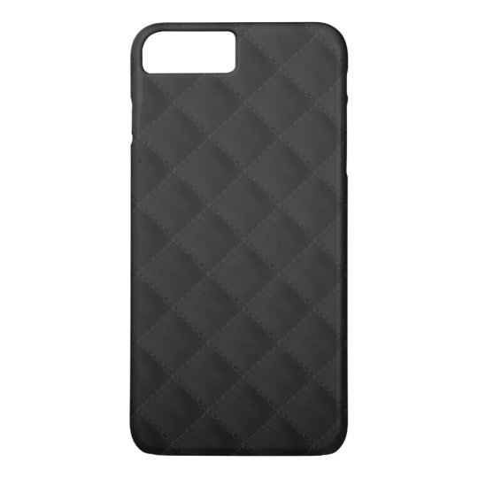 Black Quilted Leather iPhone 7 Plus Case