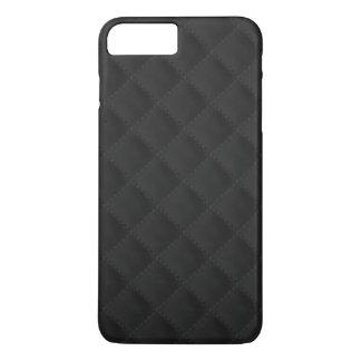 Black Quilted Leather iPhone 8 Plus/7 Plus Case