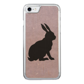 Black Rabbit Silhouette Easter Bunny Carved iPhone 8/7 Case