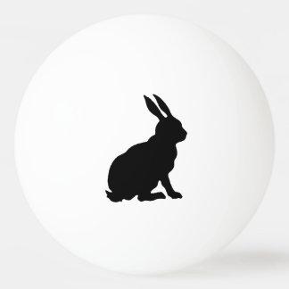 Black Rabbit Silhouette Easter Bunny Ping Pong Ball