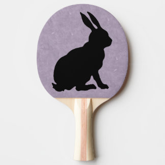 Black Rabbit Silhouette Easter Bunny Ping Pong Paddle