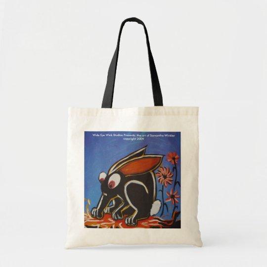 black rabbit tote bag
