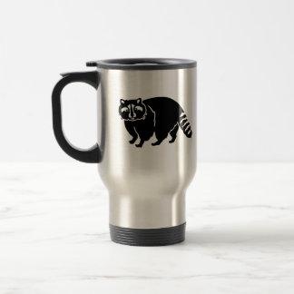 Black raccoon coffee mugs