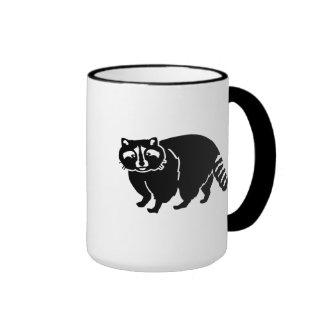 Black raccoon mugs