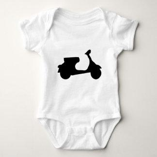 black racing scooter baby bodysuit