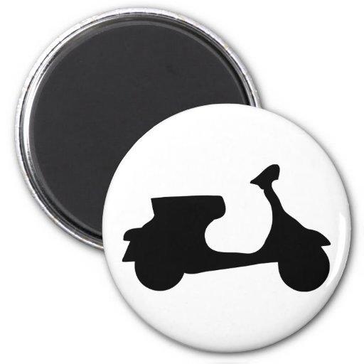 black racing scooter refrigerator magnet