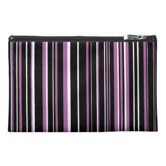 Black, Radiant Orchid Purple, White Barcode Stripe Travel Accessories Bags