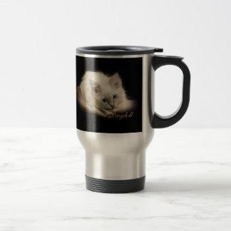 Black Ragdoll travel mug