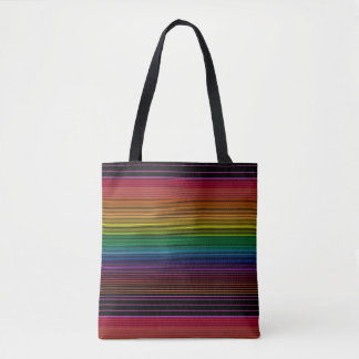 black rainbow tote bag