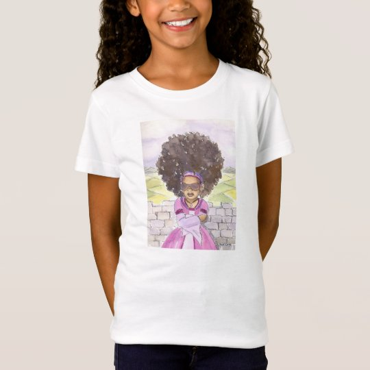 Black Rapunzel Natural Hair girls tshirt