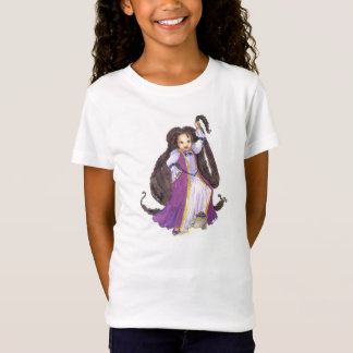 Black Rapunzel with Twists Girls tshirt