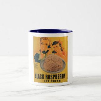 black rasberry ice cream ad mug