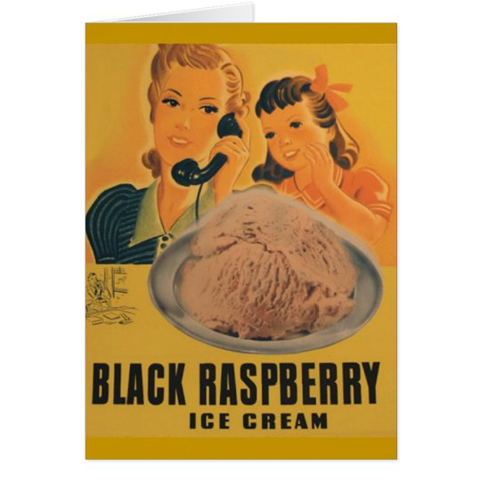 black rasberry ice cream greeting card