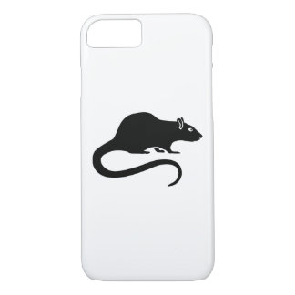 Black rat iPhone 7 case