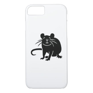 Black rat mouse iPhone 7 case