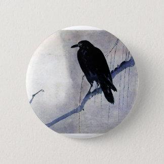 Black Raven Bird 6 Cm Round Badge