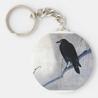 Black Raven Bird Key Ring