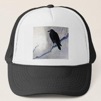 Black Raven Bird Trucker Hat