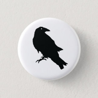 Black Raven Design Button