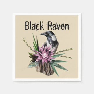 Black Raven Disposable Napkins