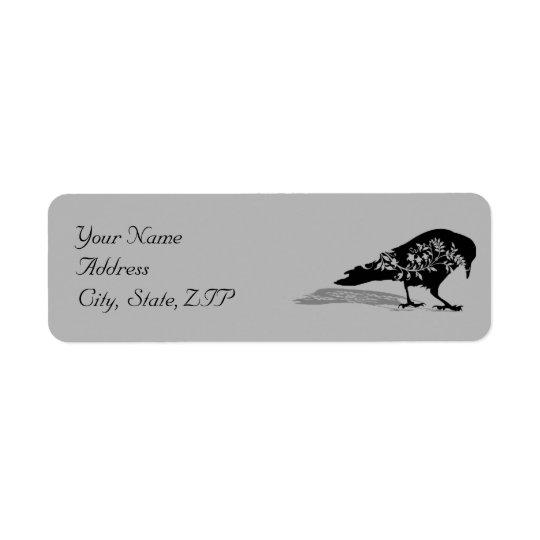 Black Raven Gothic Frame Return Address