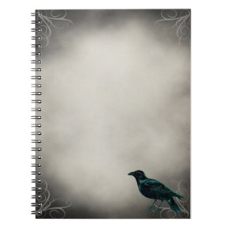 Black Raven Gothic Notebook