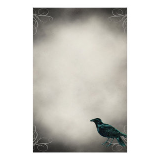 Black Raven Gothic Stationery