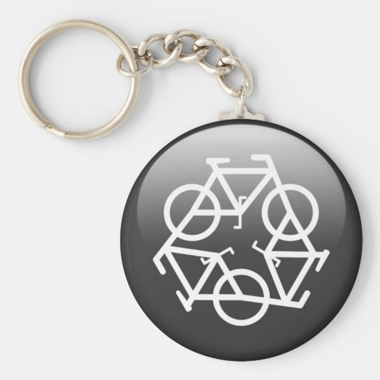 Black Recycle Keychain by Petr Kratochvil