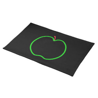 Black, Red and Green Apple Design. Placemat