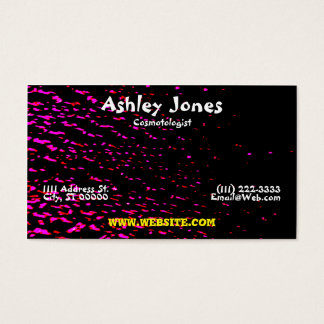 Black, Red, And Pink Energetic Business Card