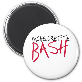 Black/Red Bachelorette Bash 6 Cm Round Magnet