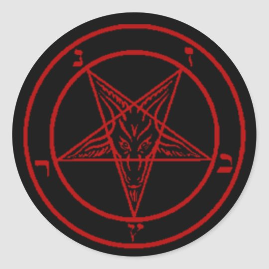 Black/Red Baphomet Stickers