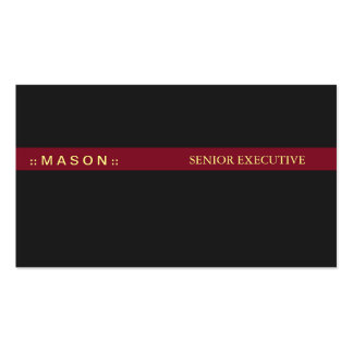 Black Red Bar Pack Of Standard Business Cards