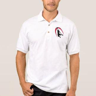 Black Red Basketball Logo Polo Shirt