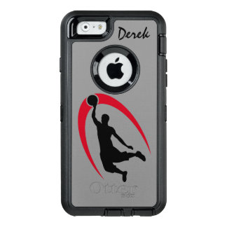 Black Red Basketball Player OtterBox iPhone 6/6s Case