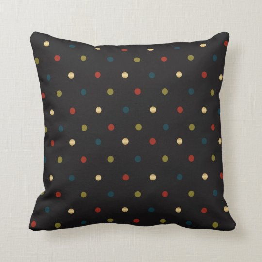 Black, Red, Blue, Gold and Olive Polka Dots