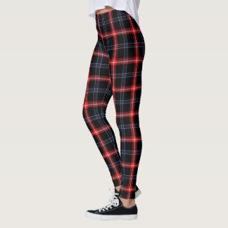 Black/Red/Blue Tartan Pattern Leggings