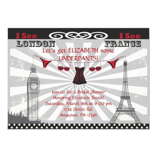 Black & Red Bridal Shower Invitations