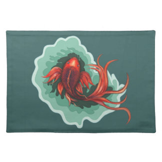 Black & Red Dragon Koi Placemat