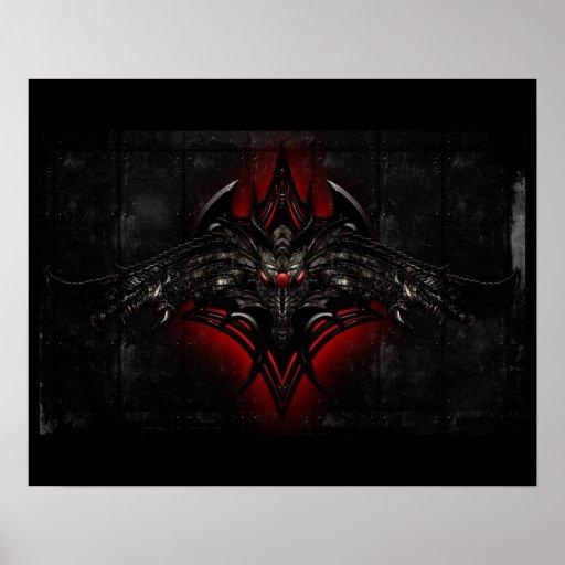 Black & Red Dragon Poster