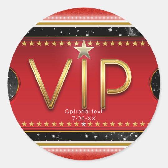 Black Red Gold & Silver Glam Custom VIP