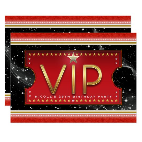 Black Red Gold & Silver Glam VIP Ticket