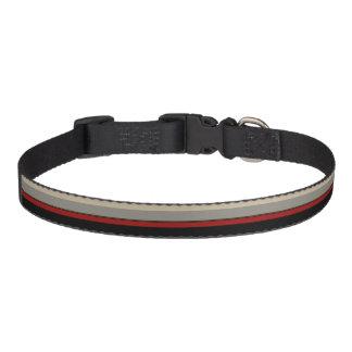 Black, red, gray, tan collar