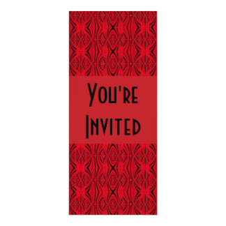 black red 10 cm x 24 cm invitation card