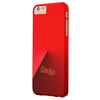 Black Red iPhone 6 Plus case for Cecile