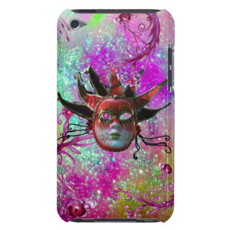 BLACK RED JESTER MASK Masquerade Party Purple Blue iPod Touch Case