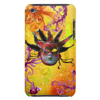 BLACK RED JESTER MASK Masquerade Yellow  Purple iPod Touch Cover