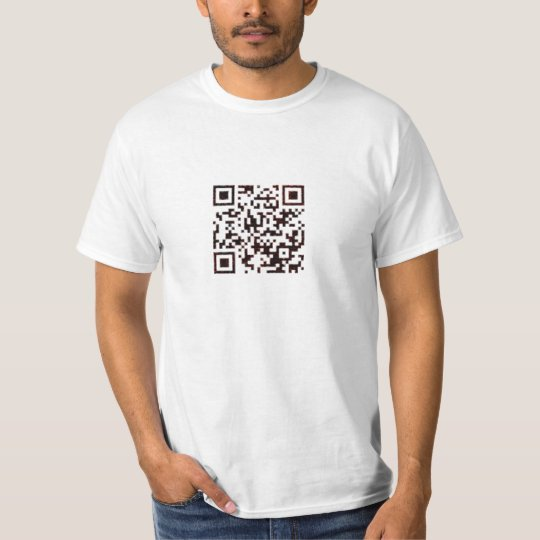Black/Red Marble QR Code T-Shirt